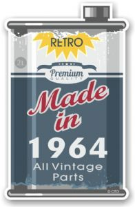 Vintage Aged Retro Oil Can Design Made in 1964 Vinyl Car sticker decal  70x110mm